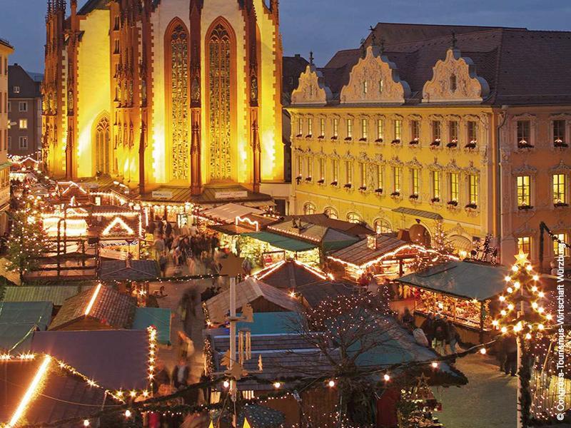 Weihnachtsmarkt in Würzburg, mit Rothenburg o.d. Tauber