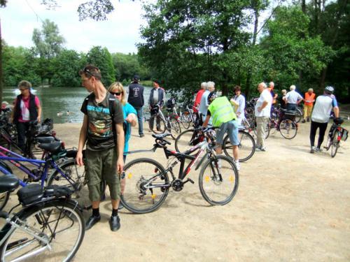 Spaß bei einer gemeinsamen Radtour
