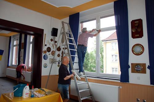 Auch sämtliche Fenster wurden geputzt
